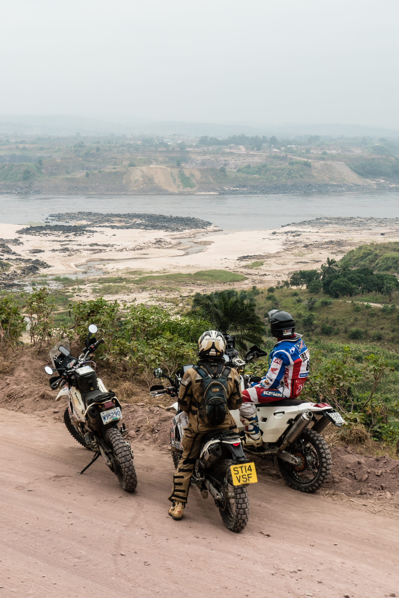 Looking across the mighty Congo River on a day out with Frank.