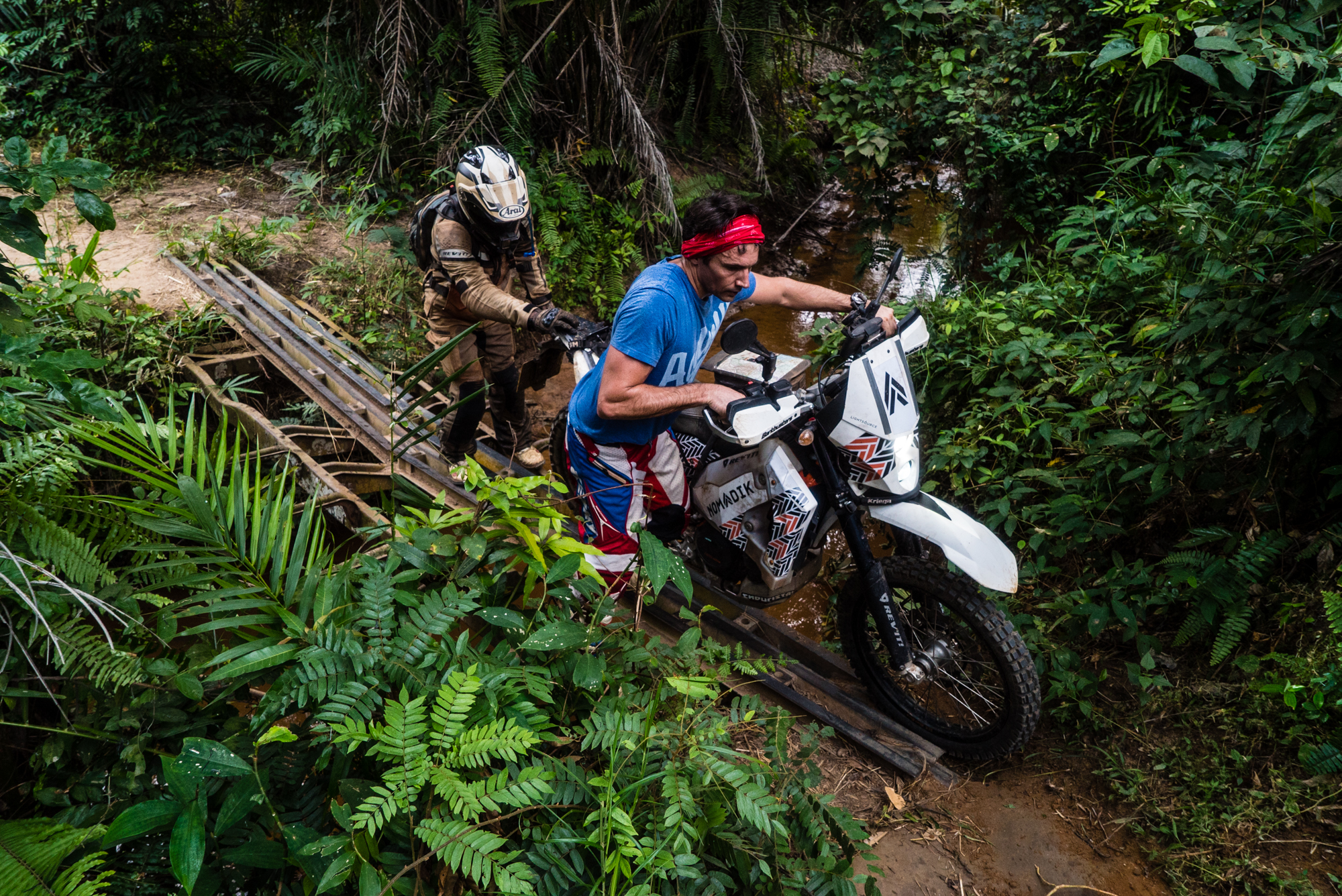 We took a day to just go riding without the bags with Frank and that was amazing. Single track and sand riding along the Congo to Zongo Falls. It was a great day out.