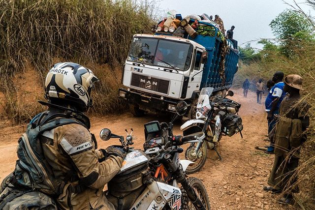 Part 5 of the journal entries from our Africa trip is live over at the @motorcyclediaries. Traveling though the Congos brought into sharp focus our risk tolerances and asked us some tough questions.  Link to the story and photos in bio.  @revit_adventure @enduristan @rallyraidproducts  #overland #drc #congo #africa #nomadikride