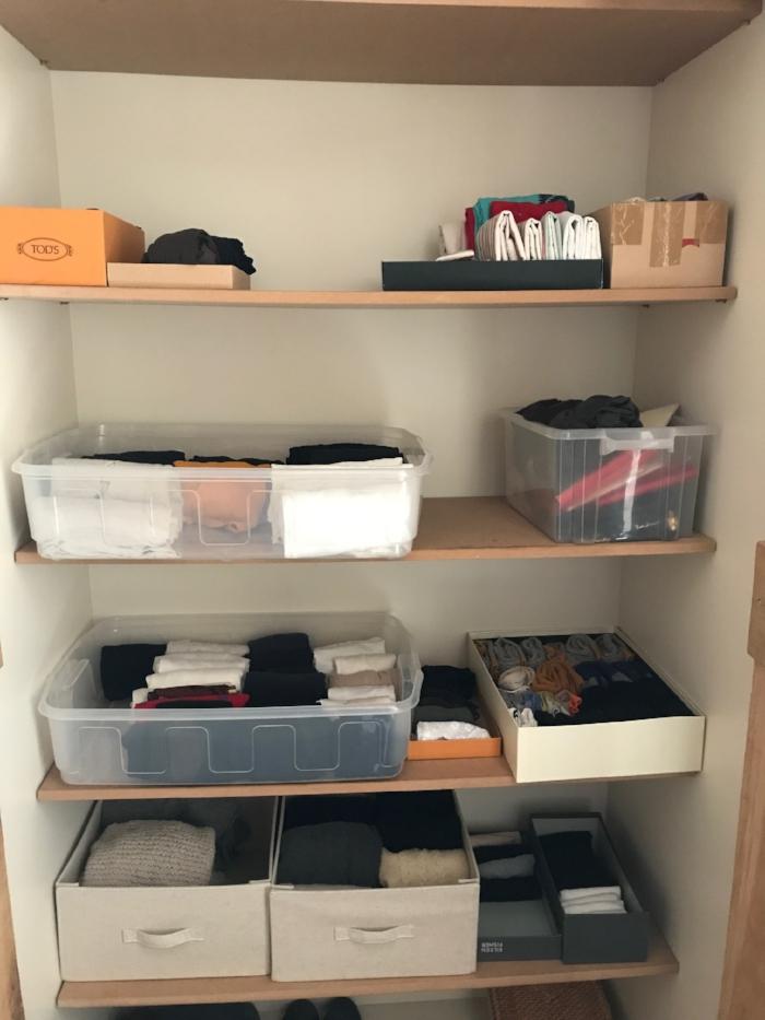 How to organise storage with the KonMari method.