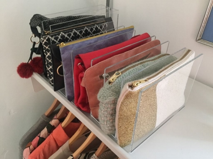 How to organise a wardrobe with the KonMari method.