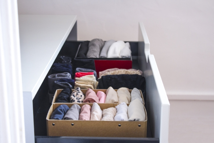How to fold clothes with the KonMari method.