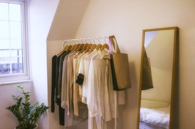 How to organise walk-in wardrobe with the KonMari method.