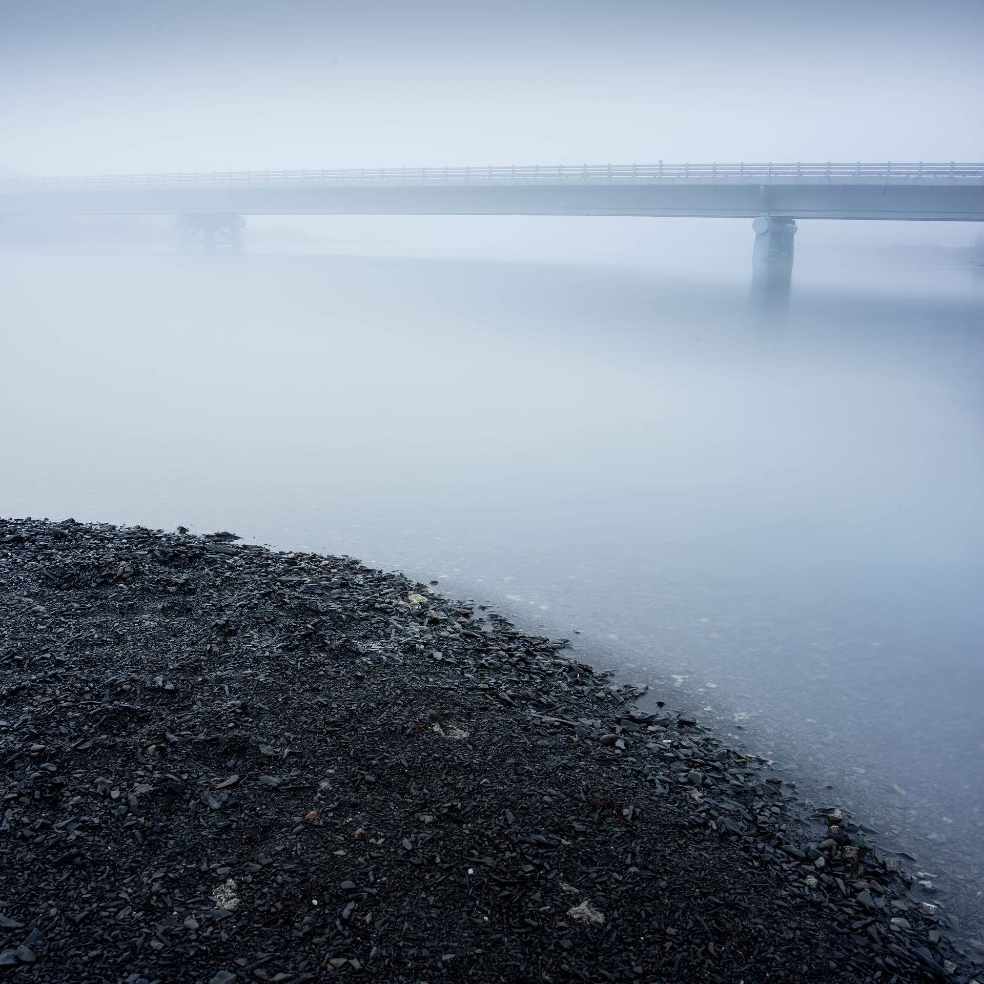Bridge in mist - Lago Pahoe, Torres del Paine, Patagonia