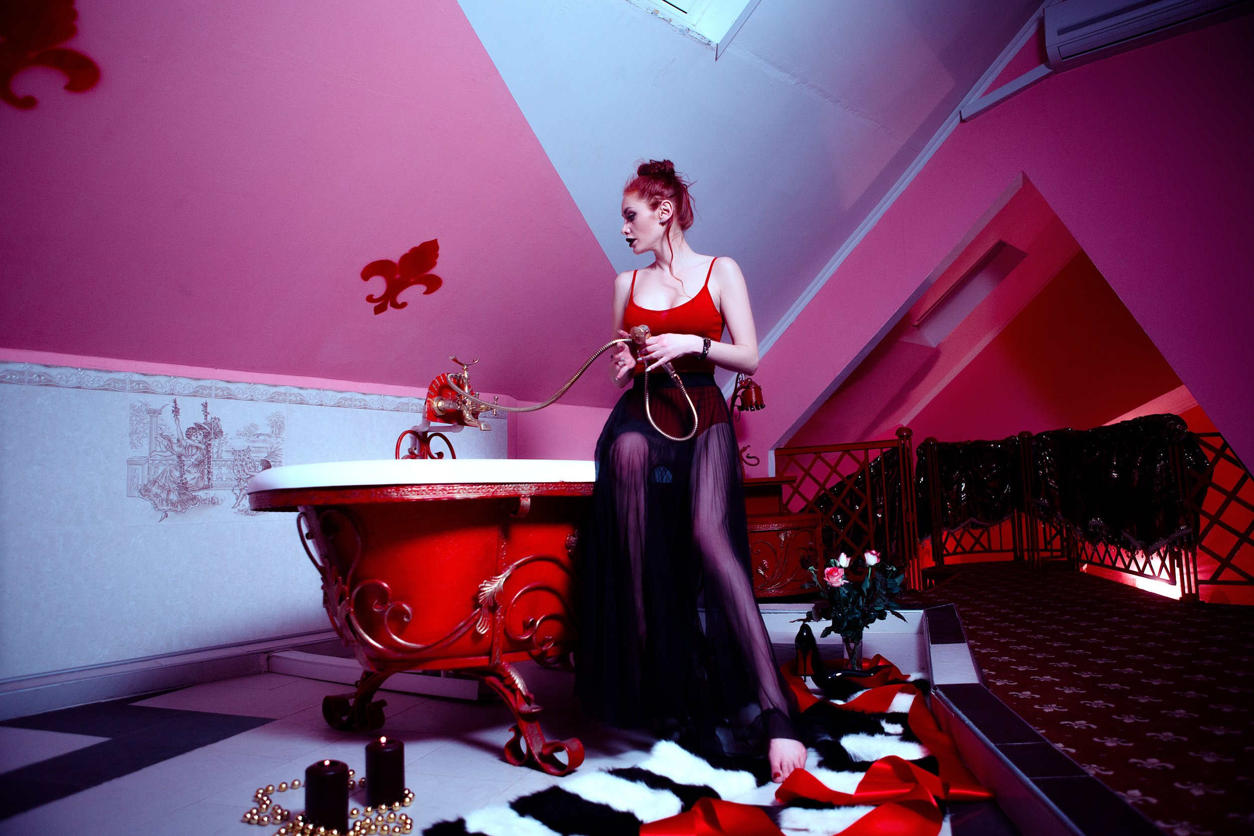 woman red bath, roses, candles.jpeg