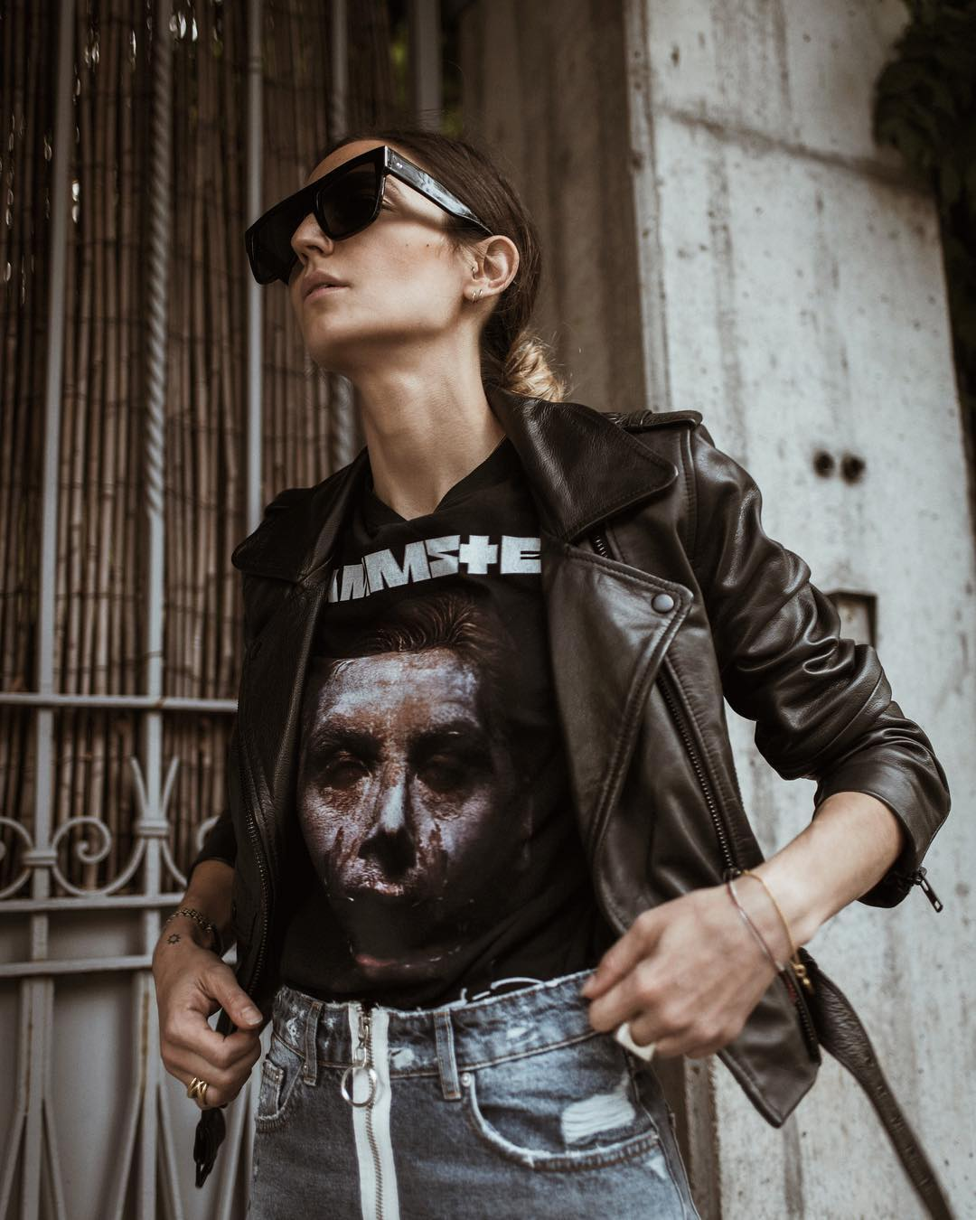 Ilenia Toma from Ilivanille is rocking our Darkside Proteus sunglasses in Milan