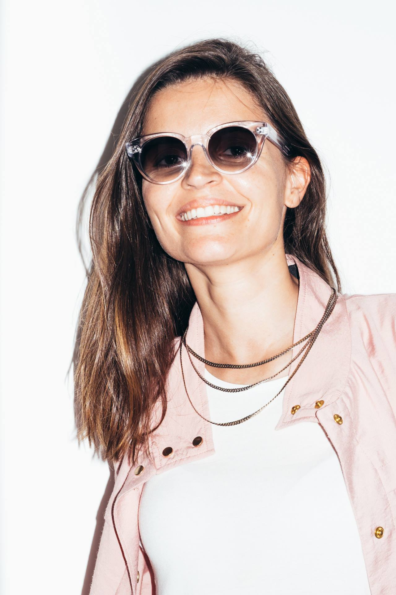 Filipa from Galula with our Rhea Clear sunglasses