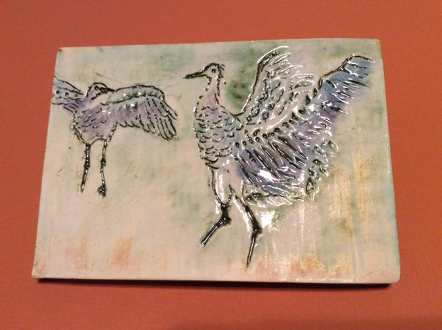 Dancing Birds Tile