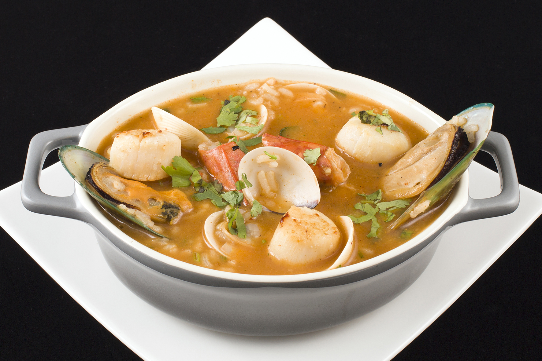 Wet Seafood Rice. 葡式海鮮飯.