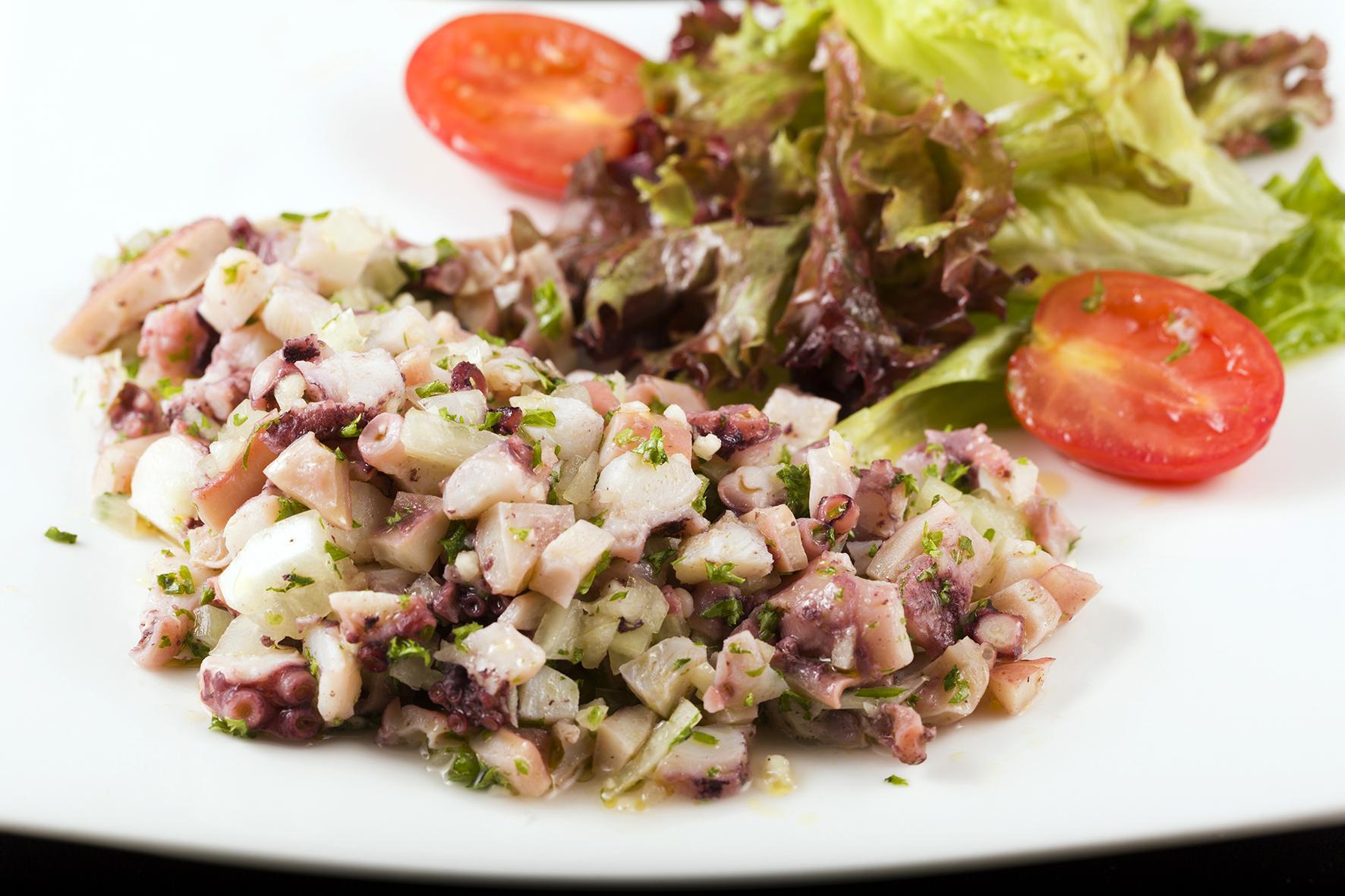Octopus Salad Portuguese Style. 八爪魚沙律.