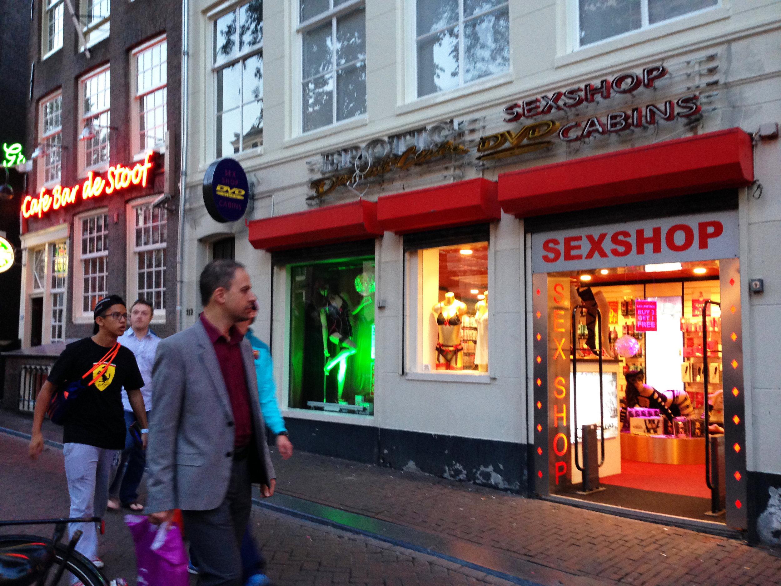Red Light District - sex shops -