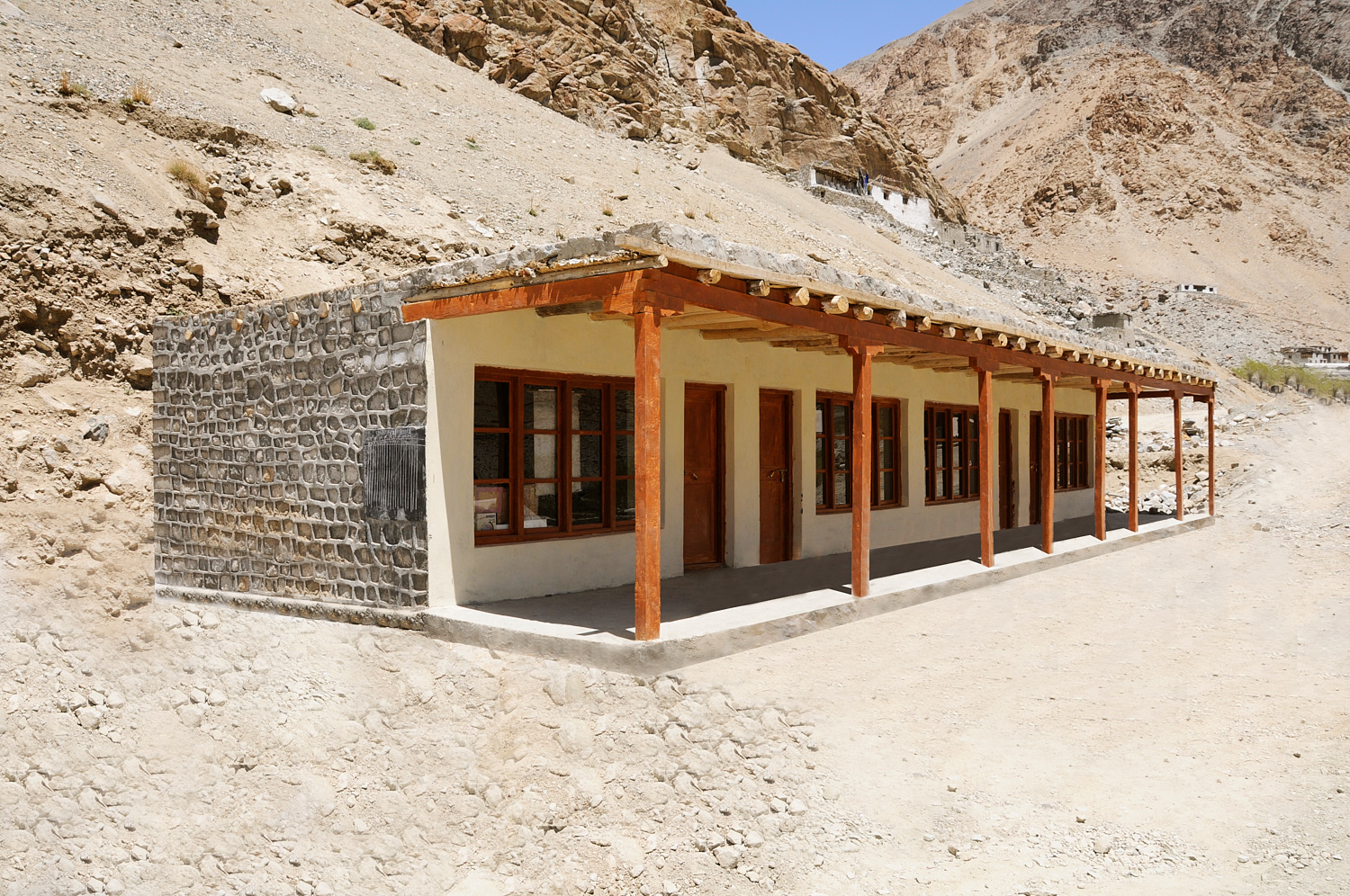 Domka Gongma Primary and Middle School, Ladakh - Funded by contributors to the Ladakh Disaster Fund