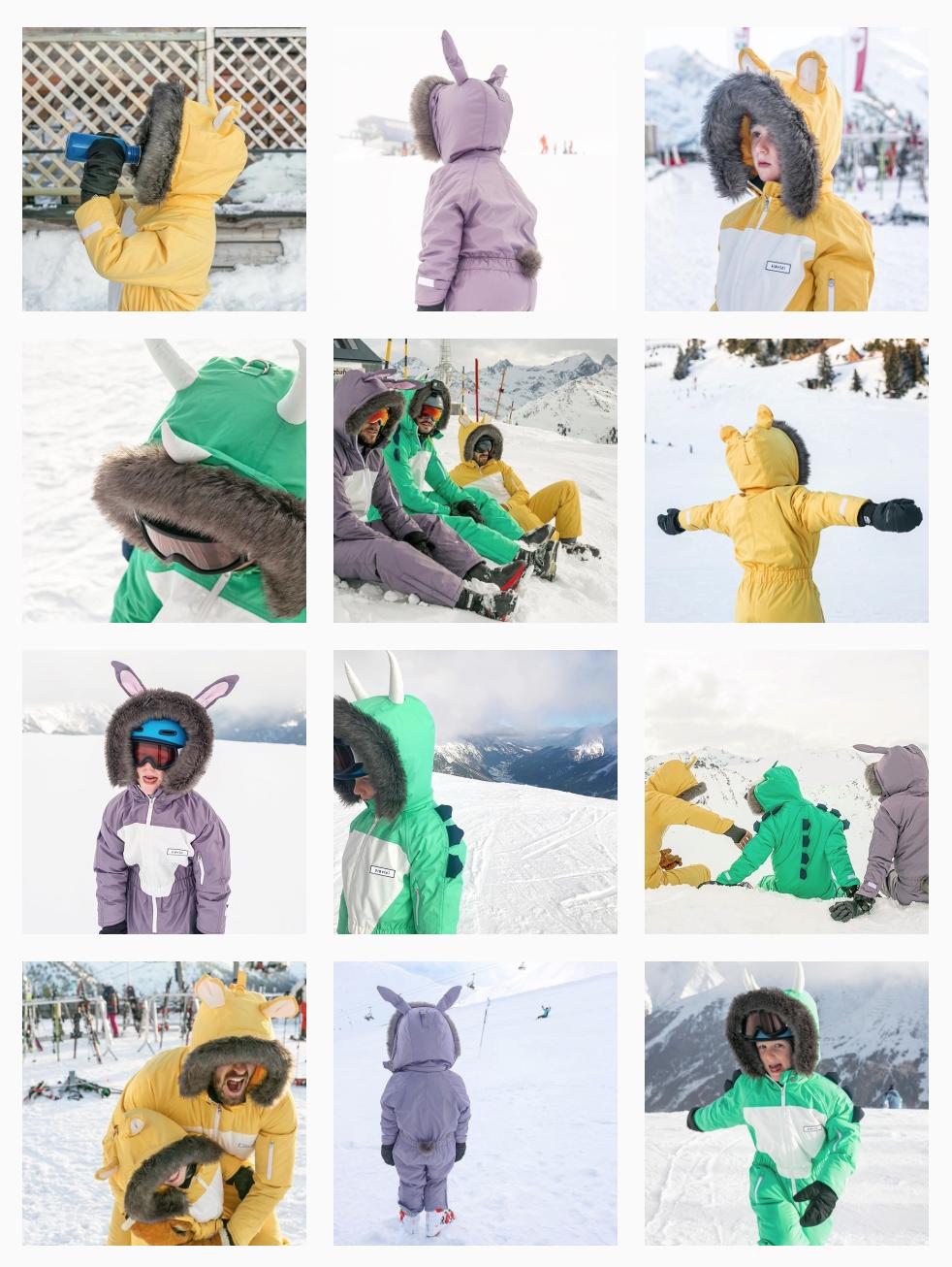 Dinoski Animal Themed Skisuits