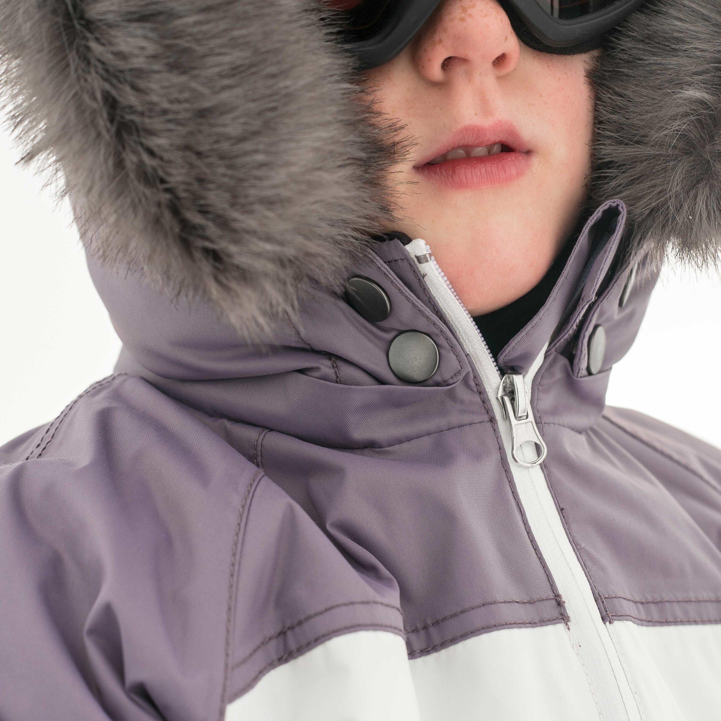 Faux Fur Ski Suit