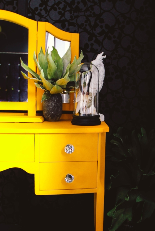 My painted dressing table