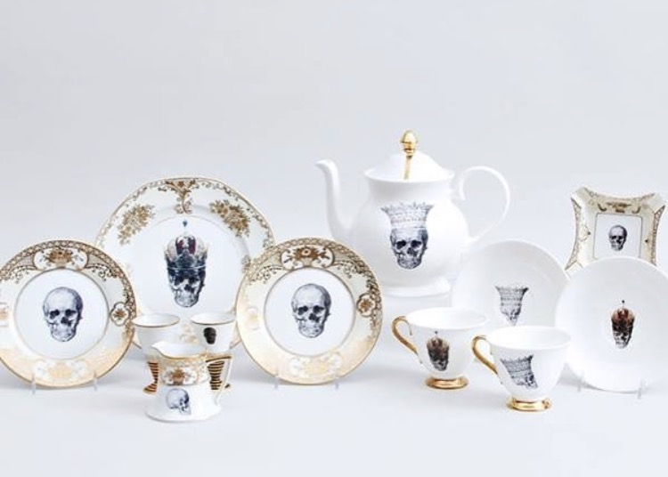 Everything is skull lovers heaven by ceramics designer Melody Rose