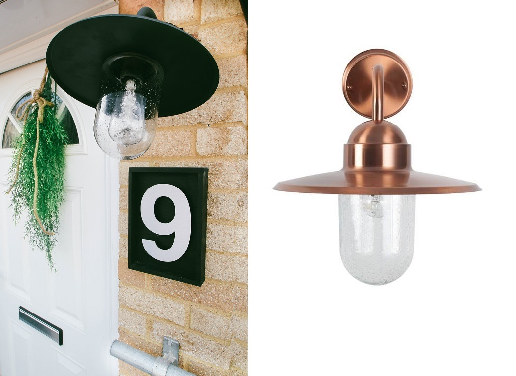 Lilium fisherman outdoor light in gun metal grey or copper - which one do you like ?