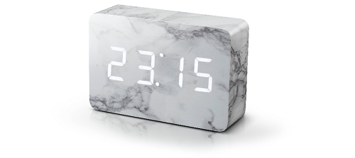 Brick marble click clock - picture courtesy of Bhs