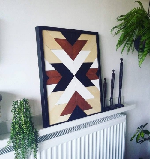 Joanna - @jodecomania used ikea Ribba frame to frame her beautifual wall art