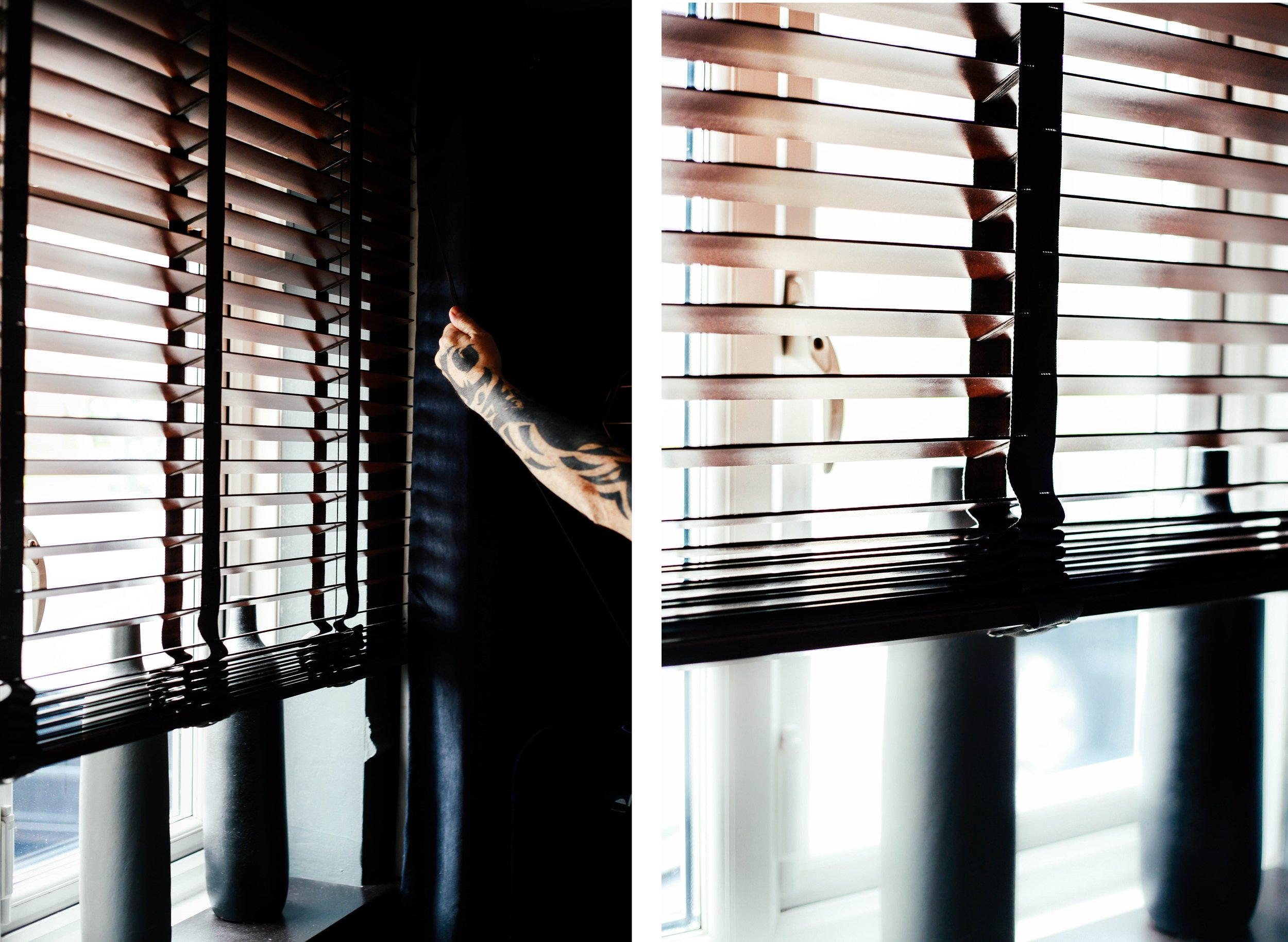 pulling blinds up - is done with ease