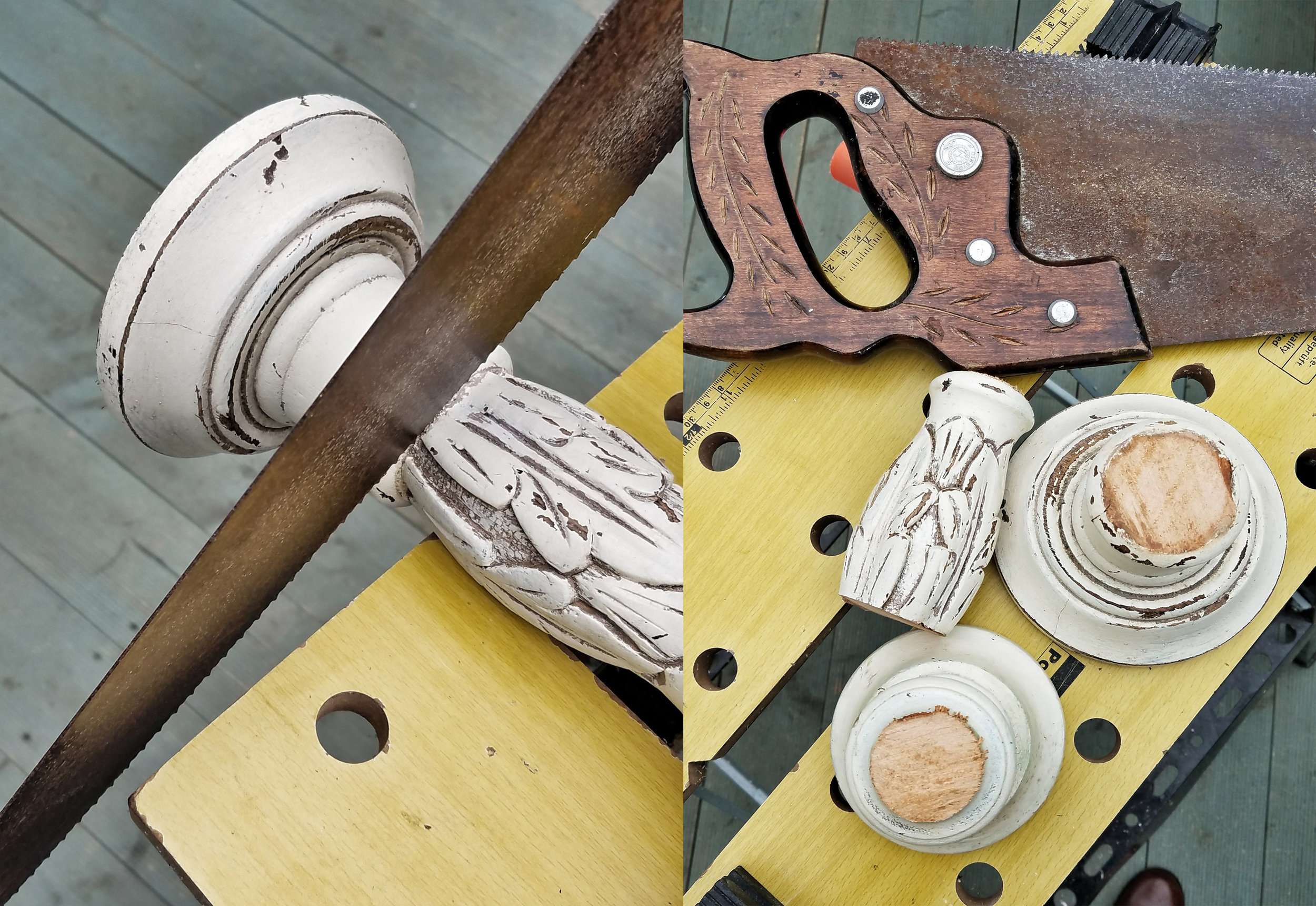 DIY - Rustic wooden cake stands