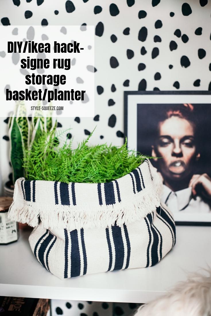 DIY/Ikea Hack  Make basket out of SIGNE rug
