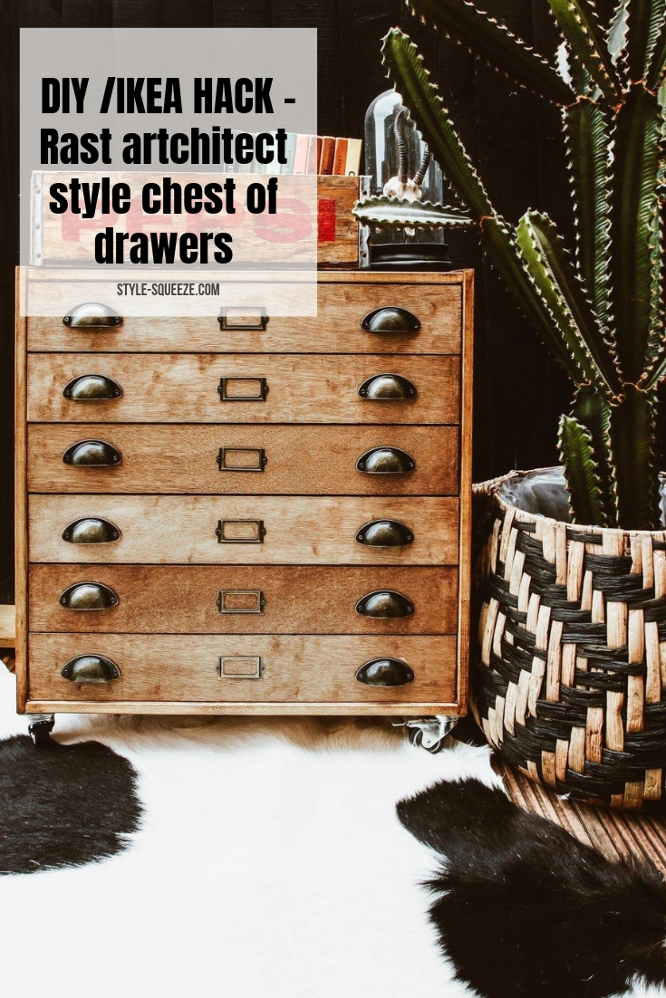 DIY - make an artchitect style chest of drawers the easy way (ikea rast hack)