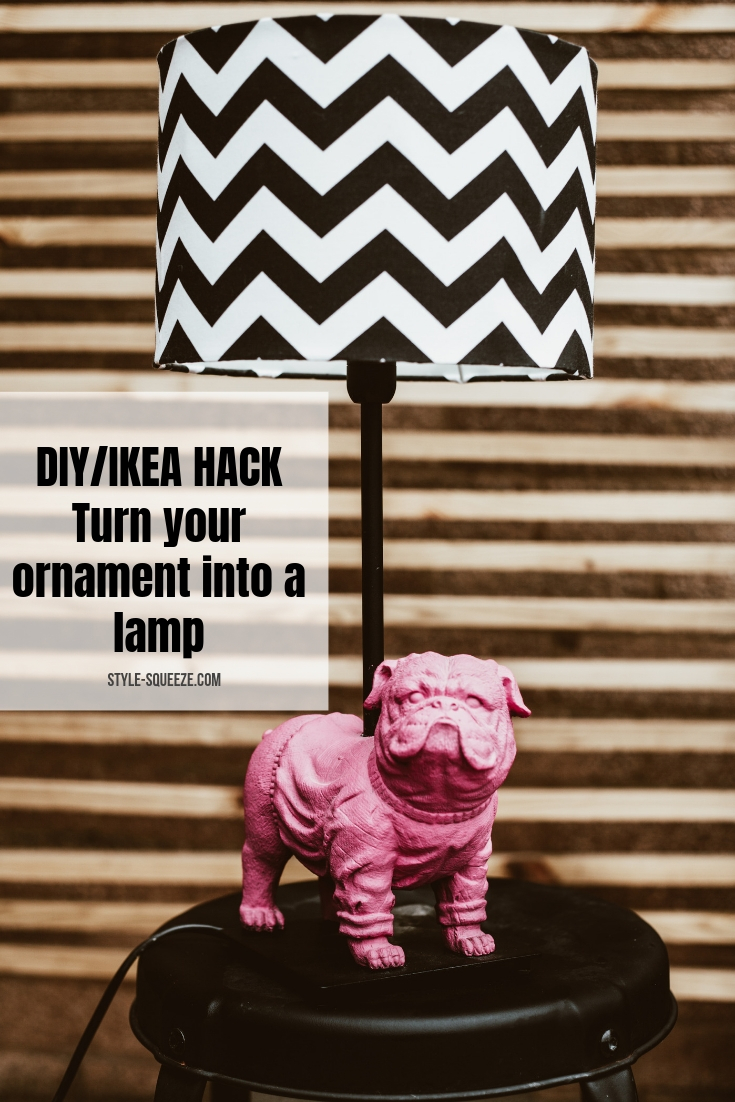 DIY-Turn your ornament into a lamp using ikea £5 lamp base