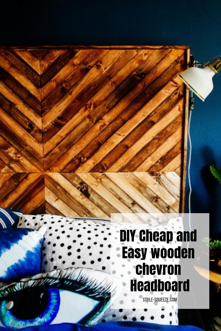 DIY Cheap and Easy £5 chevron wooden Headboard