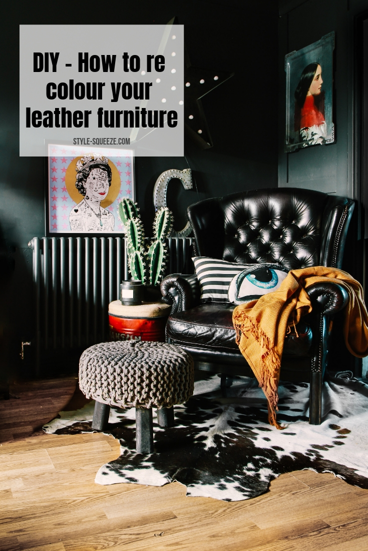 DIY - How to re colour your leather furniture