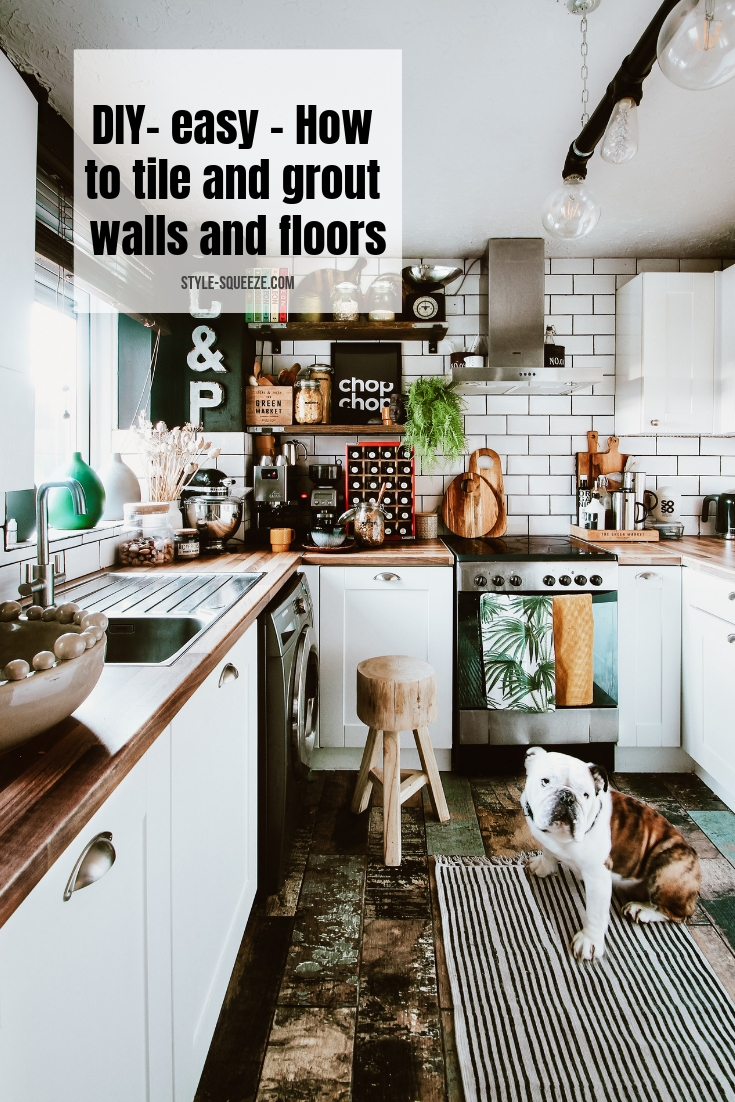 DIY- easy - How to tile and grout walls and floors