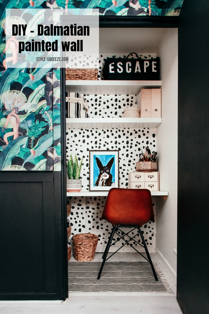 DIY - Paint dalmatian print ( Micro office budget revamp )