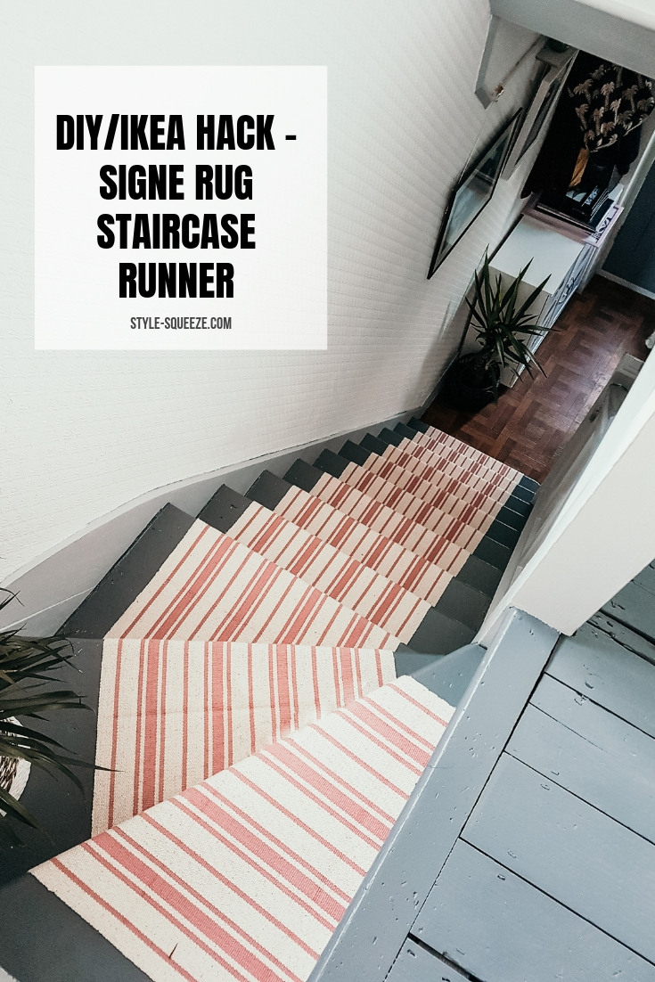 Diy Ikea Hack Signe Rug Staircase Runner Style Squeeze