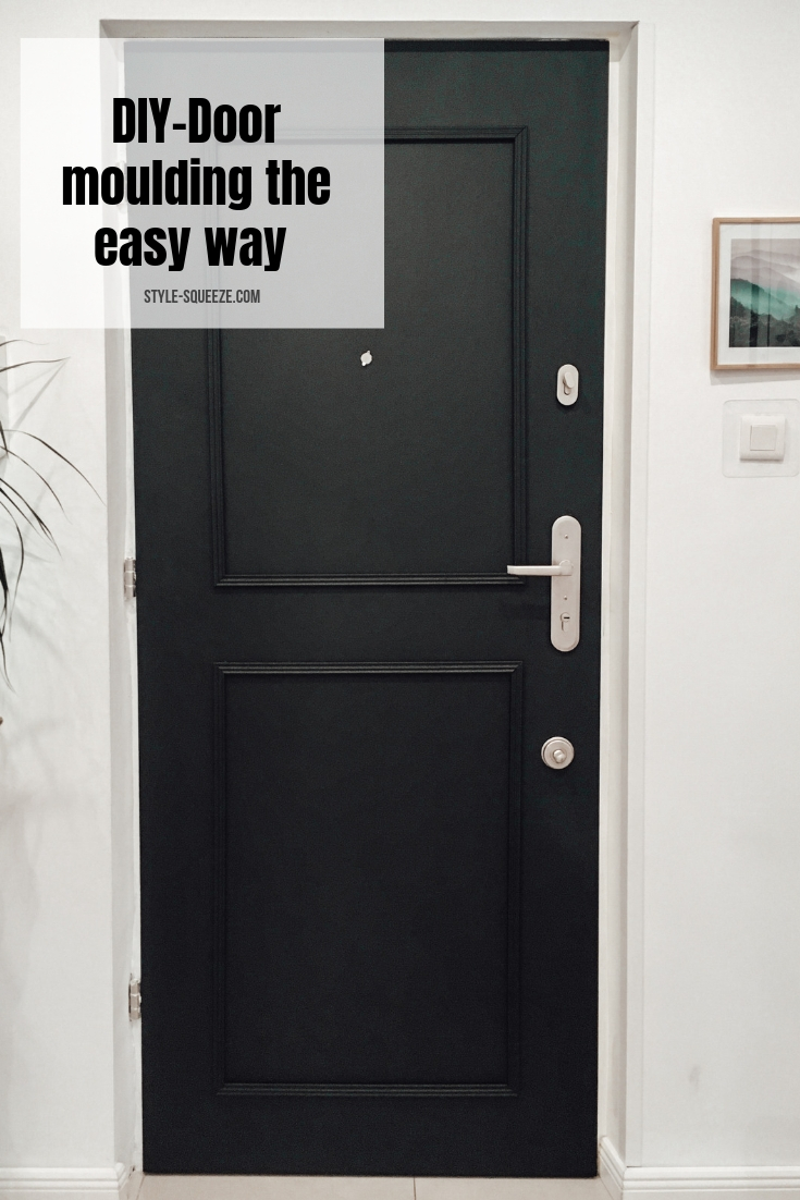 DIY - Add moulding to a flat dooror wall the easy way