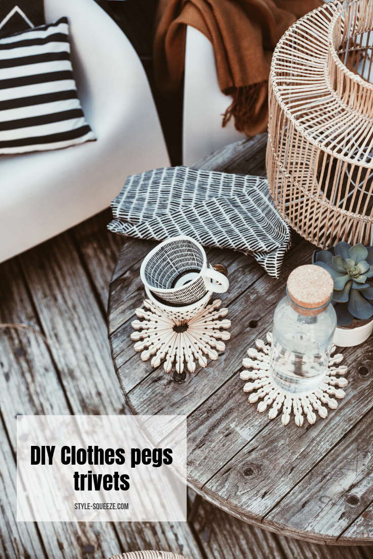 DIY - Scandinavian style clothes pegs trivets