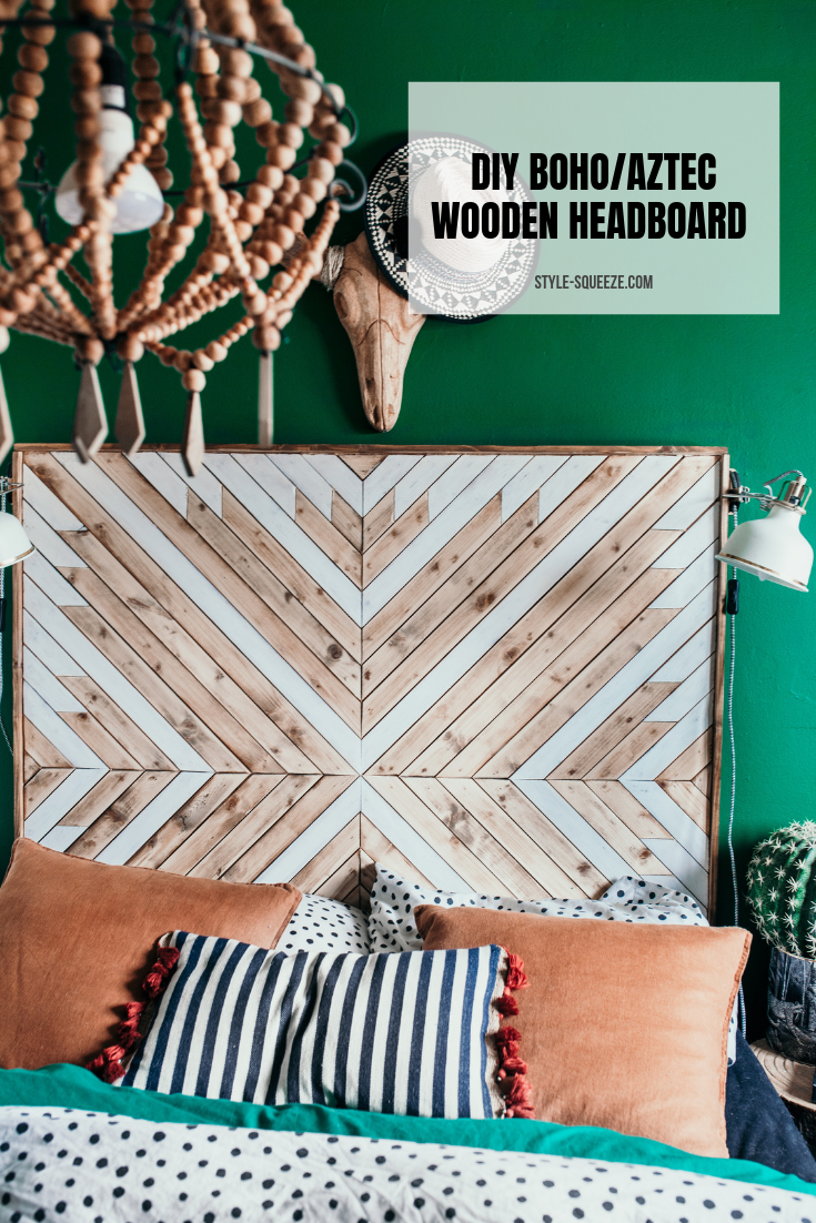 DIY   BOHO/AZTEC WOODEN HEADBOARD — Style Squeeze