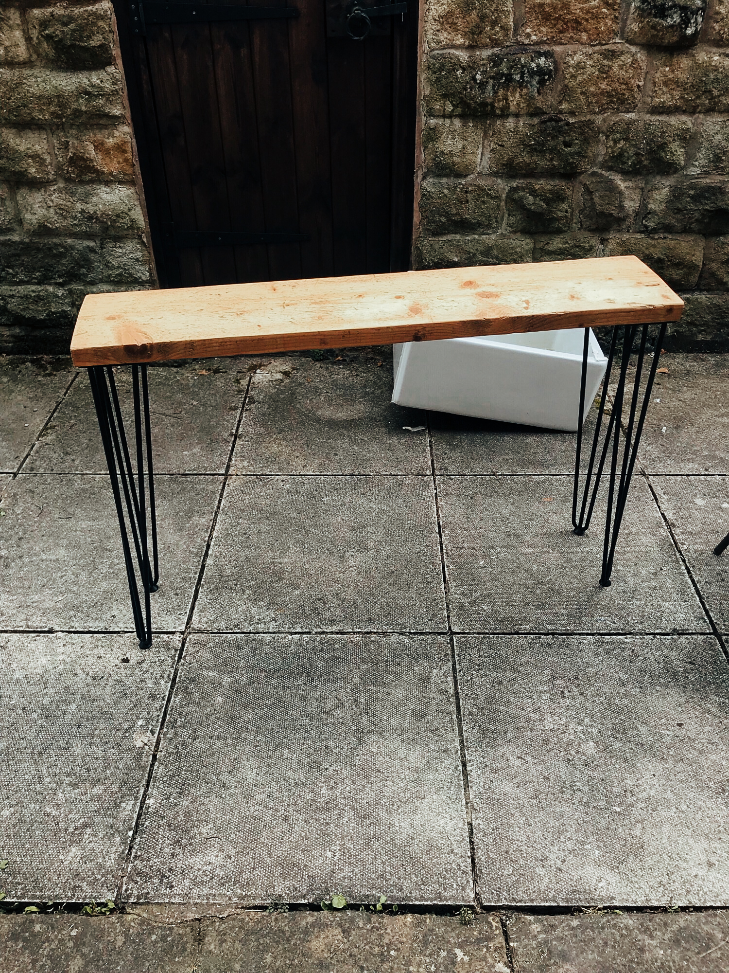 DIY - Easy rustic scaffold board console table or a bench