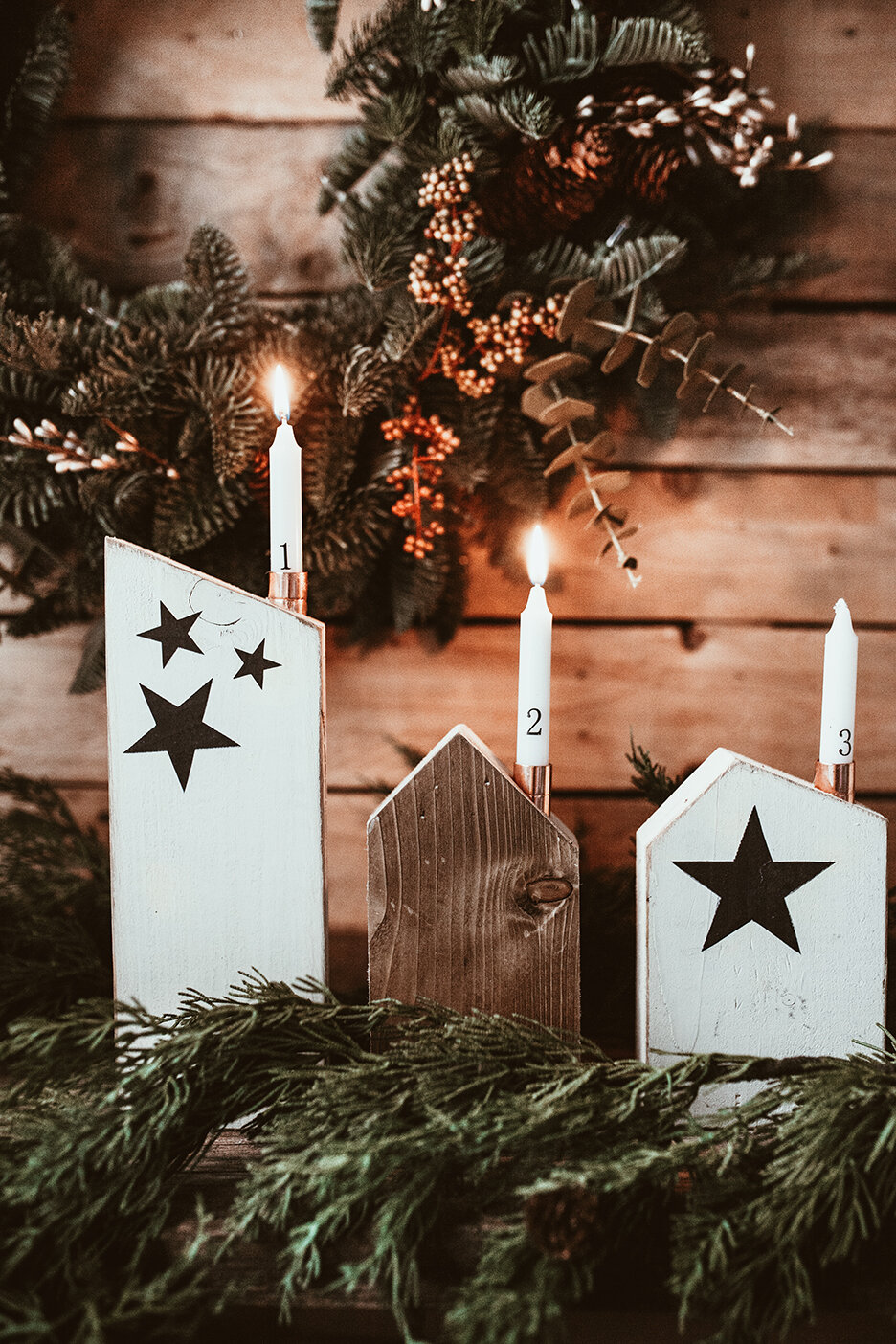 Diy Scrap Wood Advent Candle Houses Style Squeeze