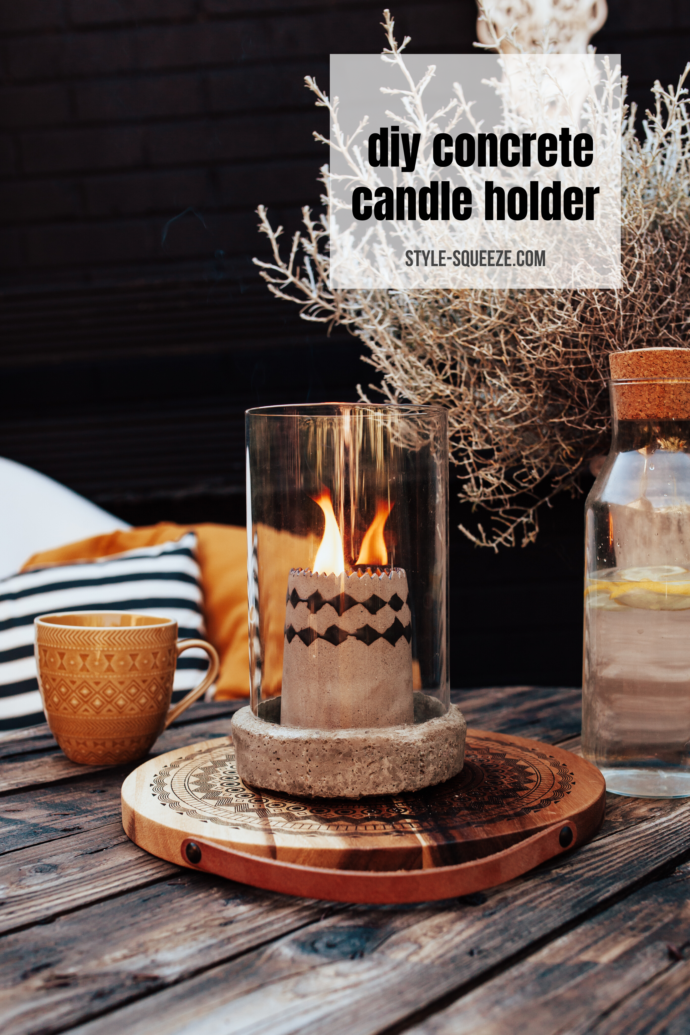 Diy Concrete Candle Holder Style Squeeze