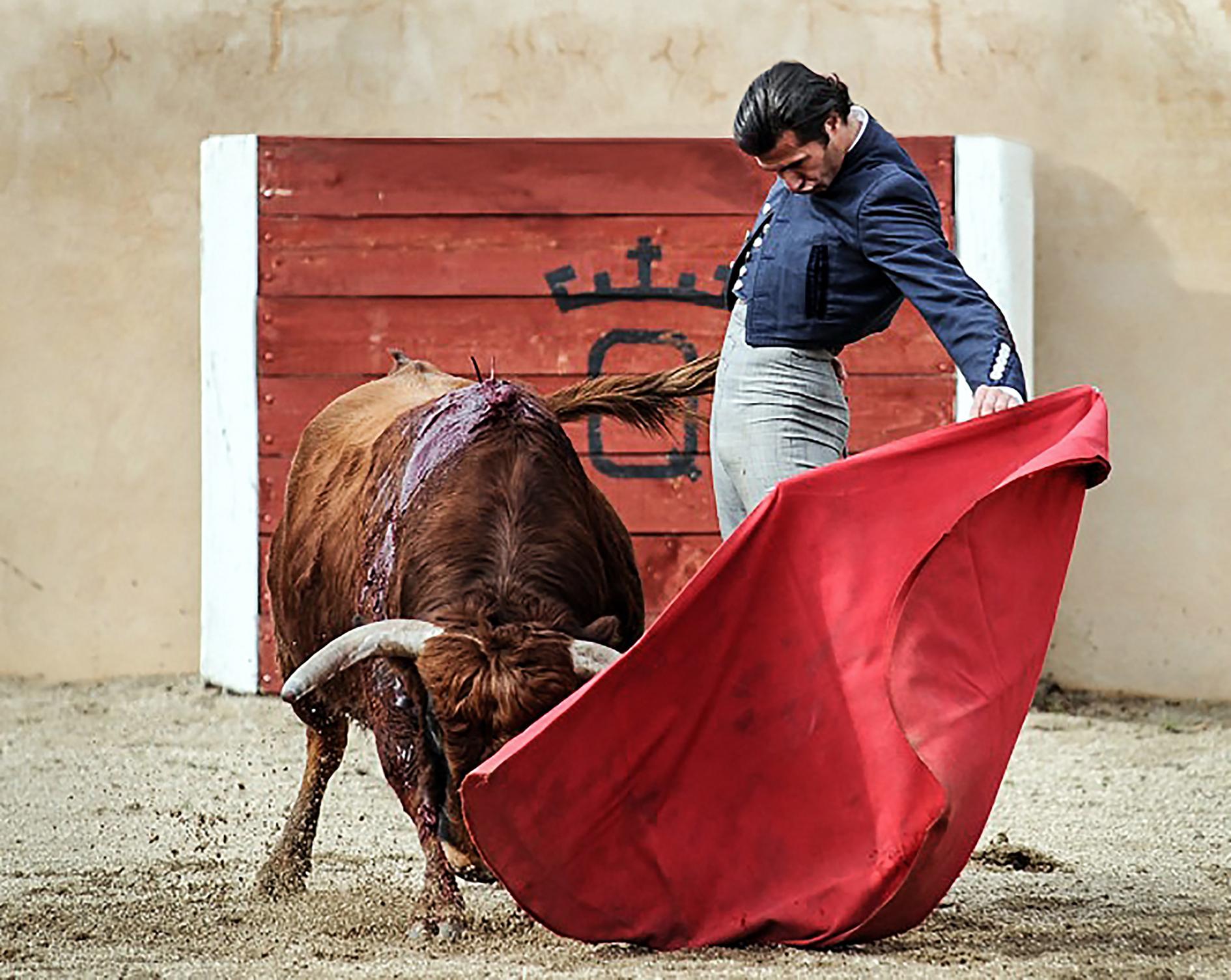 Bull fighter at Quintanar