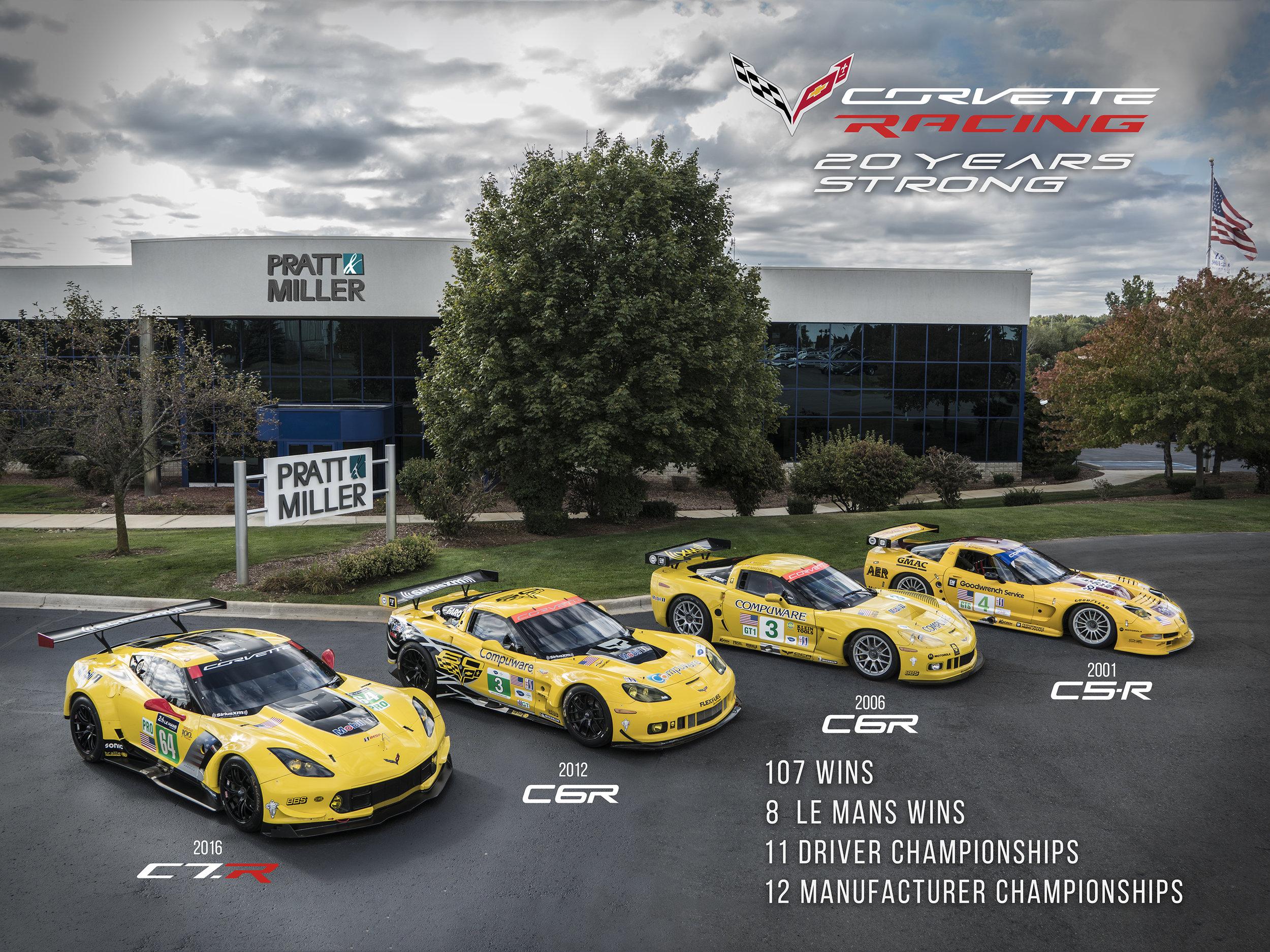 Corvette Racing 20 Year poster