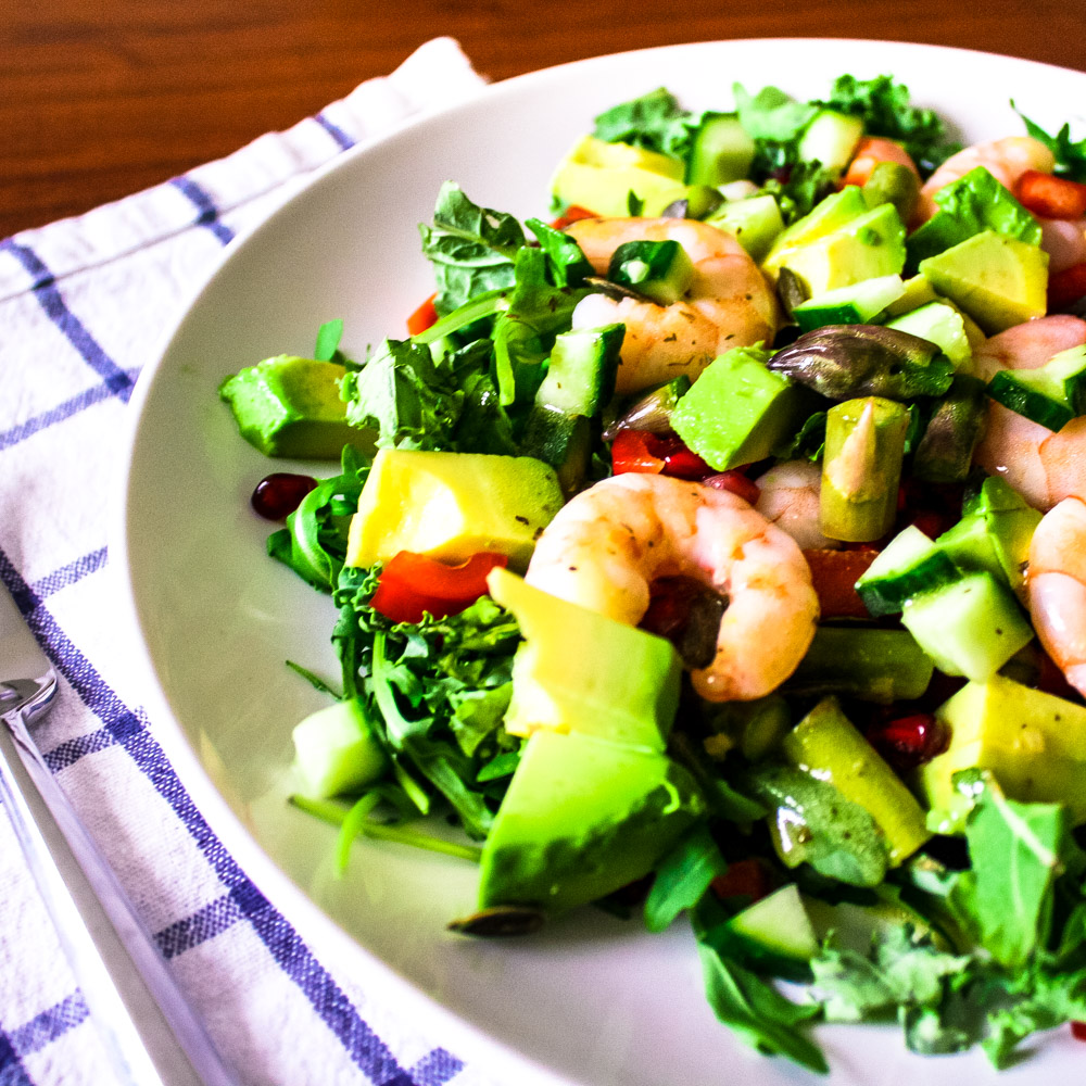 Super Food Shrimp Salad - This salad contains all things yummy and good for you! Ready to eat in 15 minutes or less.