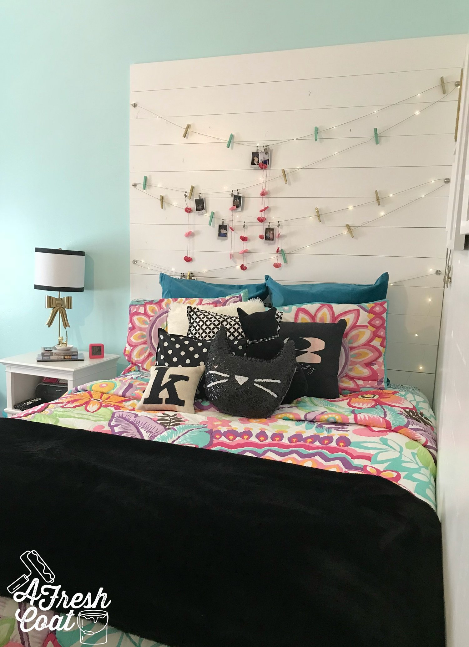 Cat-tastic: A Teenage Girl\'s Room Makeover — A Fresh Coat