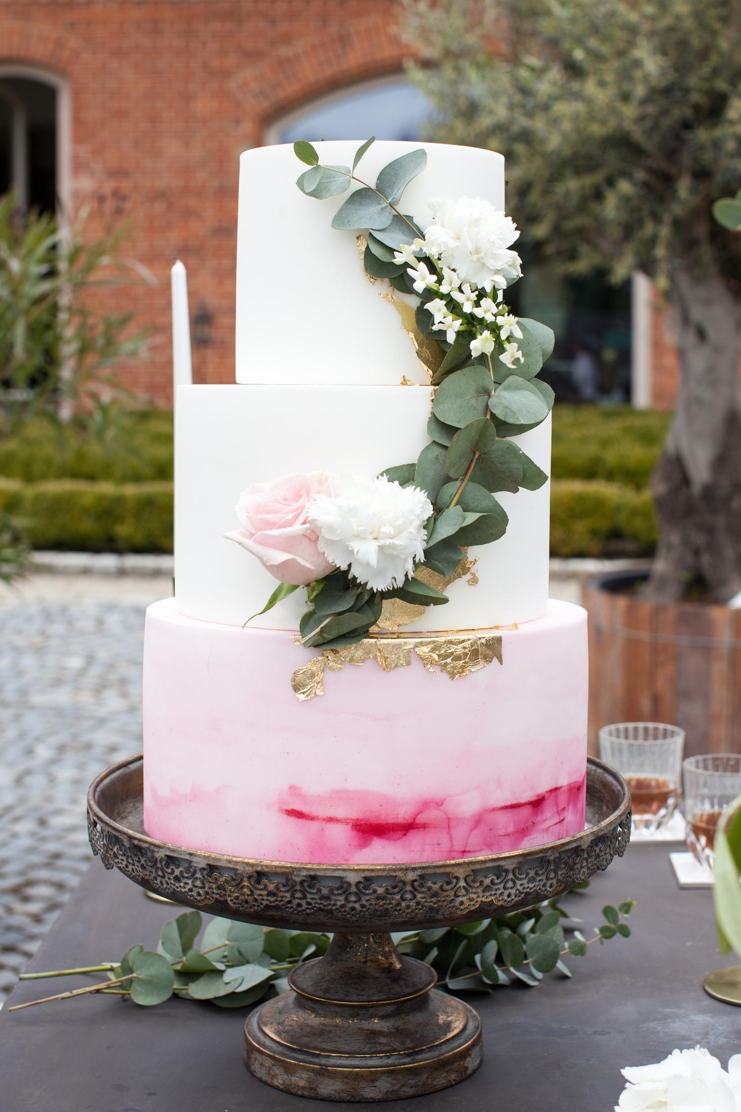 luxuriöse Hochzeitstorte