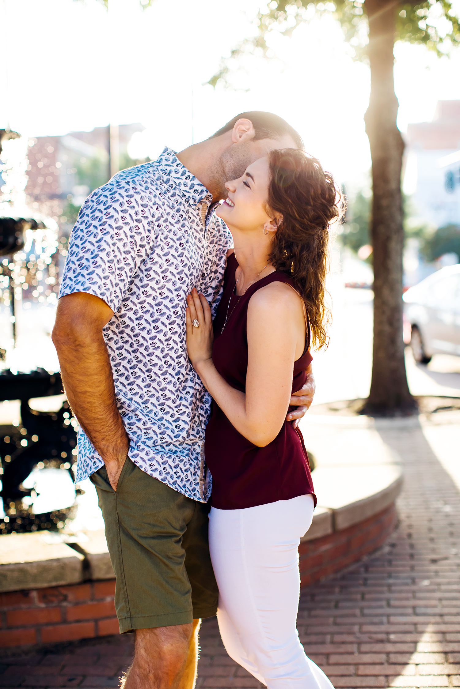 Wedding photographer NC engagement session Fayetteville Raleigh southern pines downtown