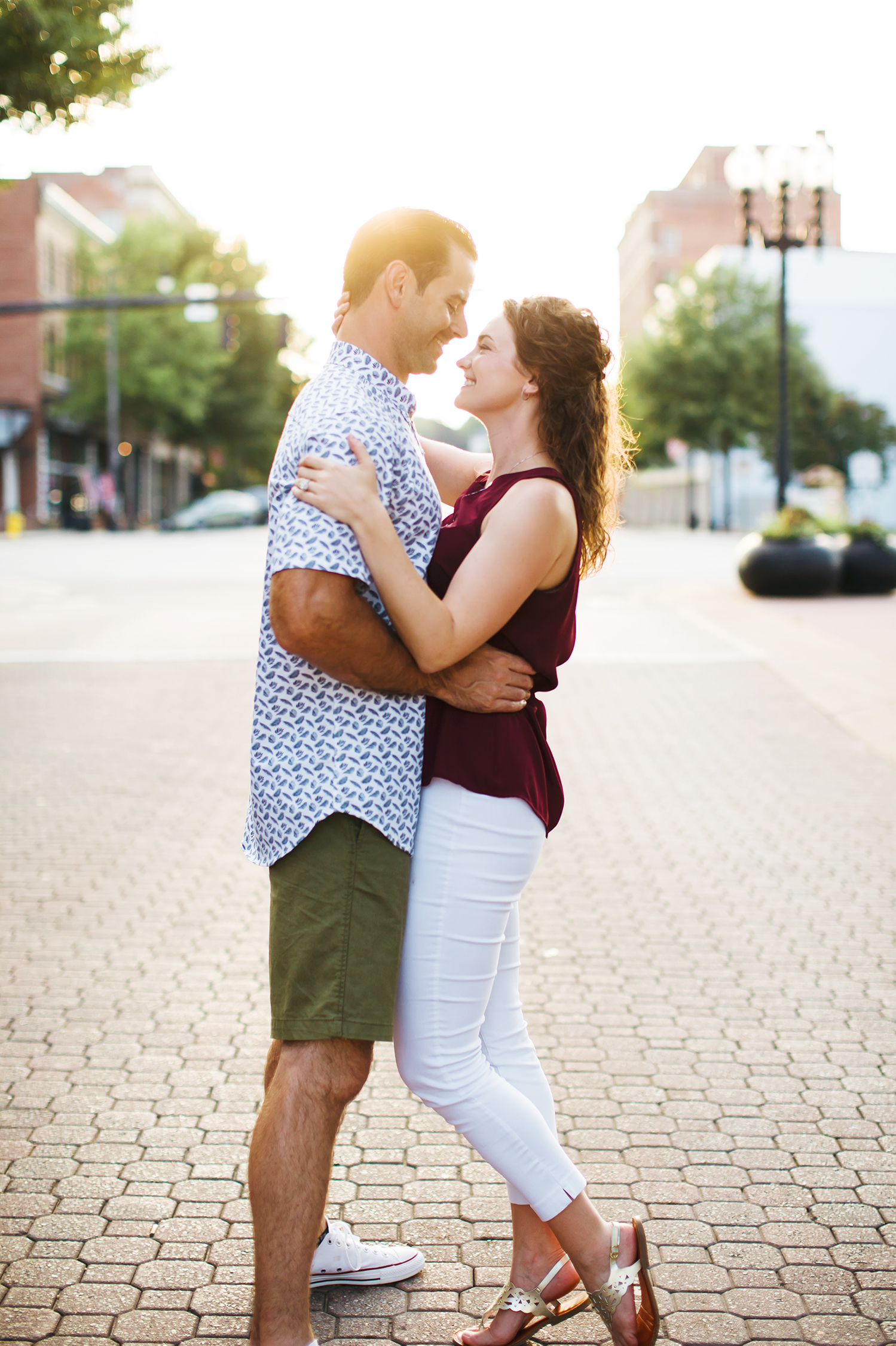 Engagement photo shoot Raleigh Durham Wilmington Downtown