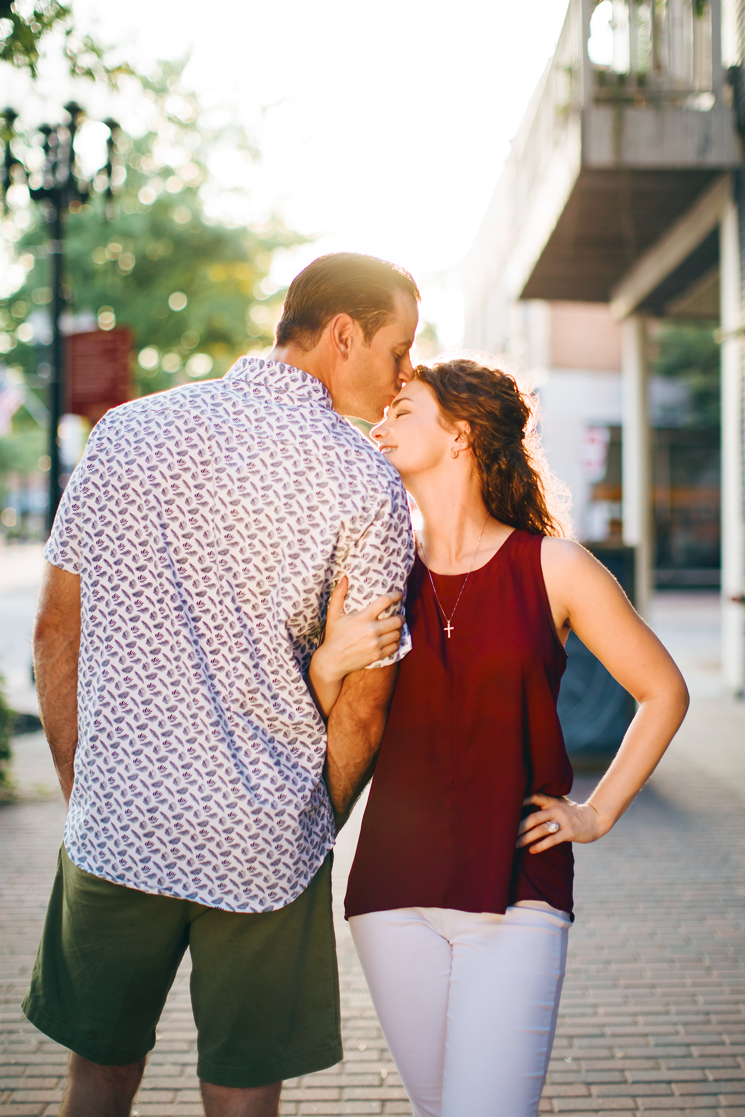 Fayetteville downtown engagement session