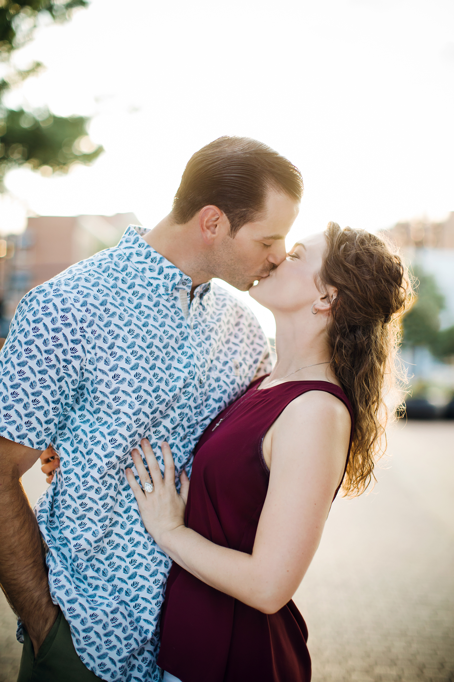 Engagement photo Session downtown Raleigh Durham Southern Pines