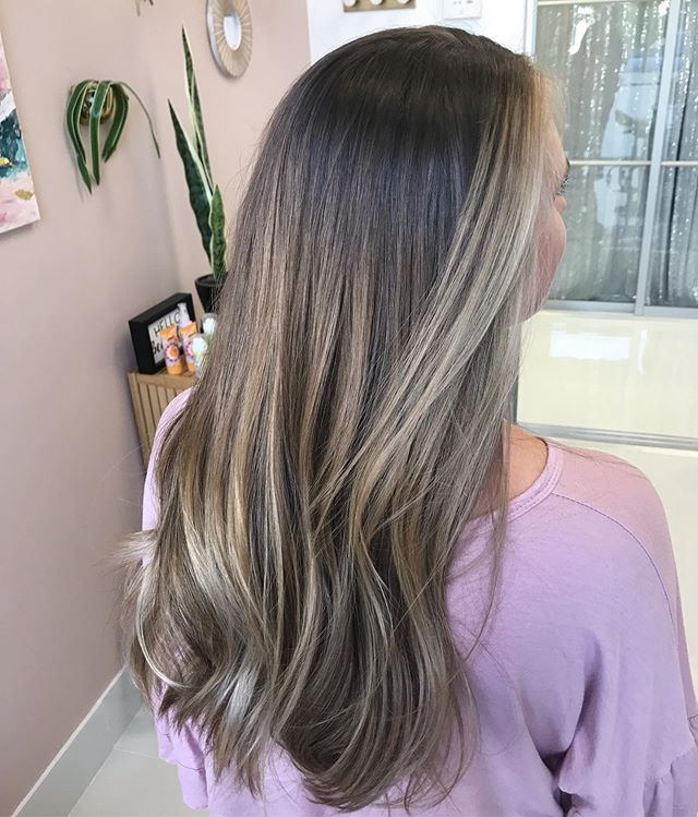 MELTED 🤤 Hand painted balayage and toned to a beige creamy blonde. . . . #hairpainting #balayage #hair #hairgoals #nchairstylist #caryhairstylist #brunettehair #summerhair #pretty