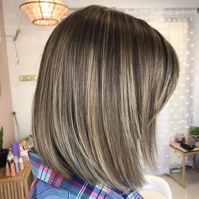 Khaki toned brunette dimension ✨ balayage and highlights to lighten up her natural color. . . . . #brunette #hair #highlights #balayage #beauty #btcpics #caryhairstylist #hairpainting #babylights #nchairstylist